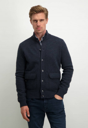 Modern-Classics-vest-met-knoopsluiting---donkerblauw-uni