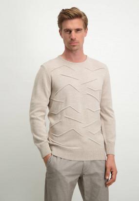 Pull-Modern-Classics-en-laine-d'agneau-mélangée---grège-uni