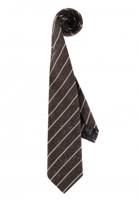 Gestreifte-Krawatte-aus-der-Modern-Classics-Kollektion---dunkelbraun/hellbeige