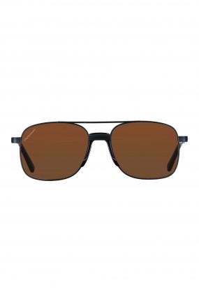 Sunglasses-made-of-premium-metal---dark-anthracite/green-brown