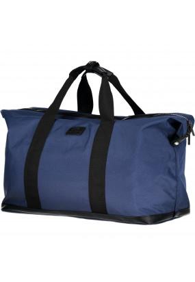 Weekend-Bag-made-of-Canvas-Nylon---dark-blue-plain