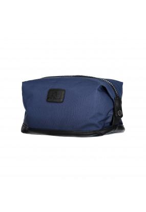 Toiletry-bag-of-canvas-and-nylon---dark-blue-plain