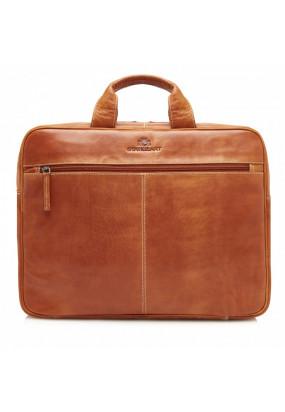 Laptop-bag-of-buffalo-leather---cognac-plain