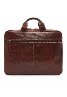 Laptop-bag-of-buffalo-leather---dark-brown-plain