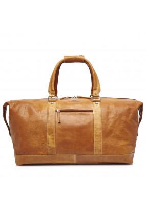 Travel-Bag-of-Buffalo-Leather---cognac-plain