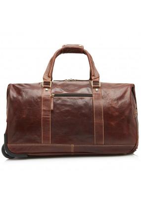 Travel-Bag-made-of-buffalo-leather---dark-brown-plain