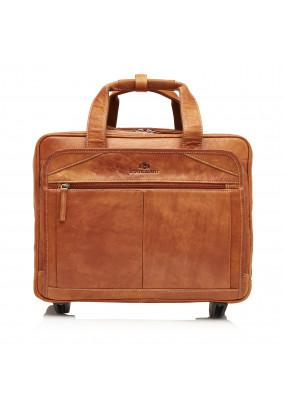 Business-trolley-of-buffalo-leather---cognac-plain