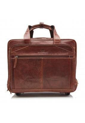 Business-trolley-of-buffalo-leather---dark-brown-plain