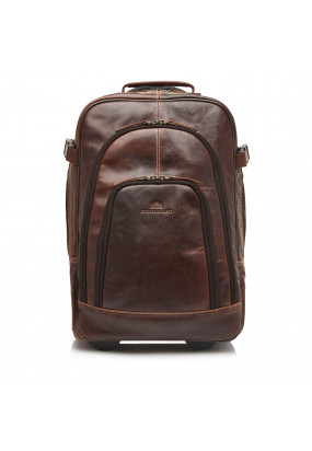 Back-Pack-Trolley-of-Buffalo-Leather---dark-brown-plain