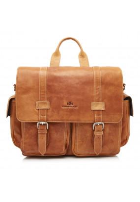 Messenger-Bag-of-Buffalo-Leather---cognac-plain