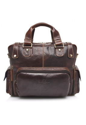 """Business-case-with-a-14""""-laptop-compartment---dark-brown-plain"""