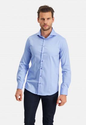 Modern-Classics-Easy-Care-overhemd---middenblauw-uni
