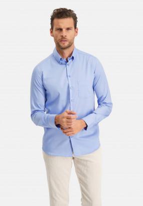 Modern-Classics-overhemd-Easy-Care---middenblauw-uni