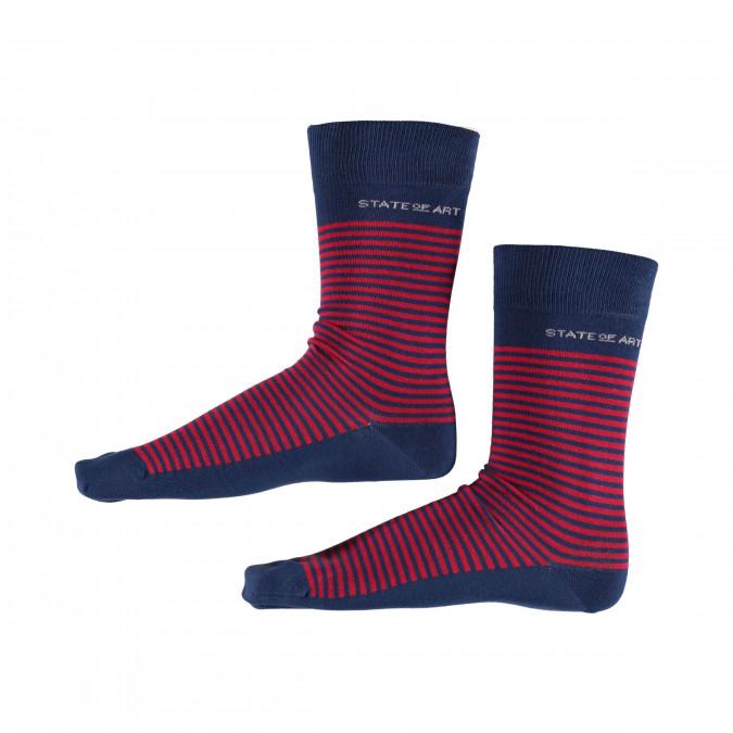 Socks-Striped---cobalt/red
