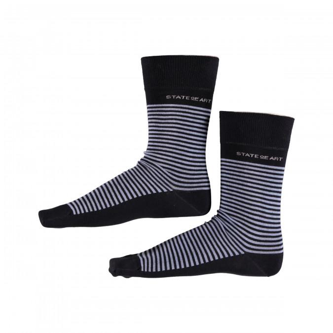 Socken,-Streifen---dunkelblau/wasserblau