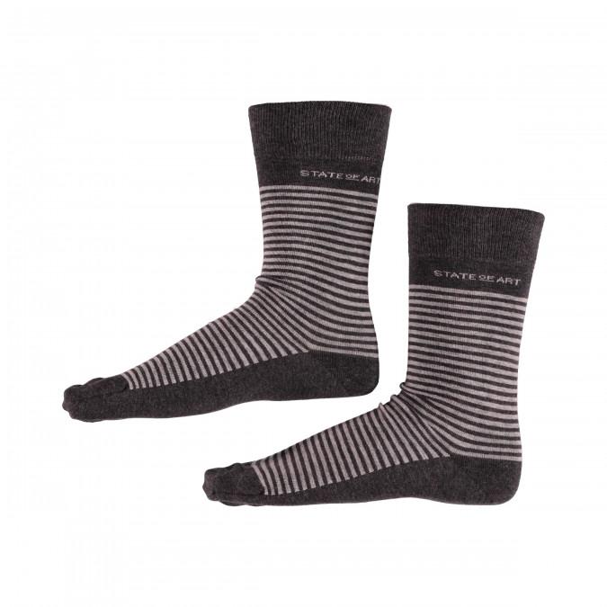 Socks-Striped---dark-anthracite/silvergrey