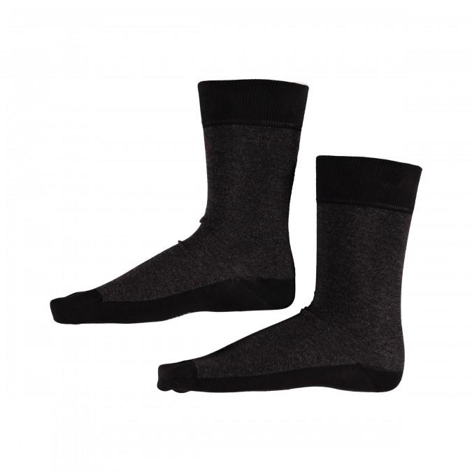 Socks-Striped---black/charcoal