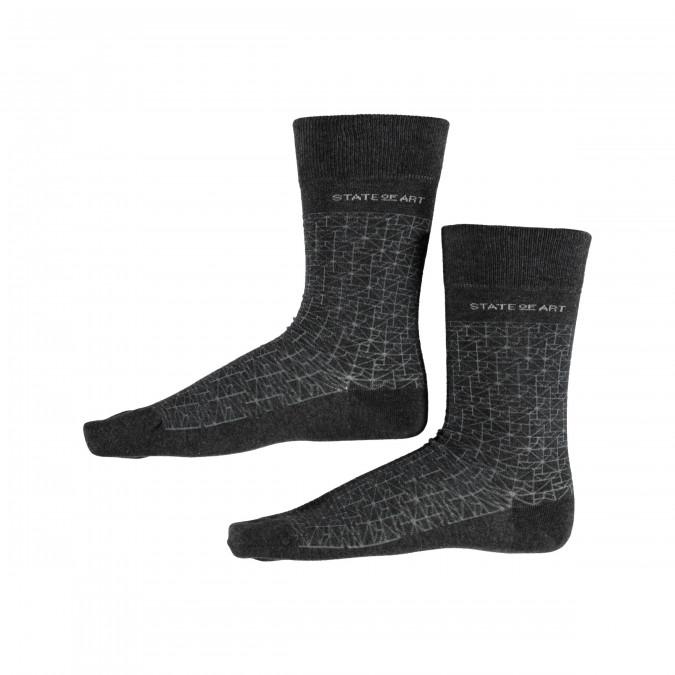 Socks-with-Print---dark-anthracite/silvergrey