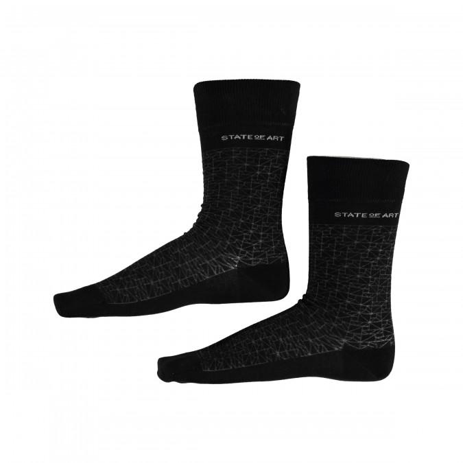Sokken-met-print---zwart/donkerantracit