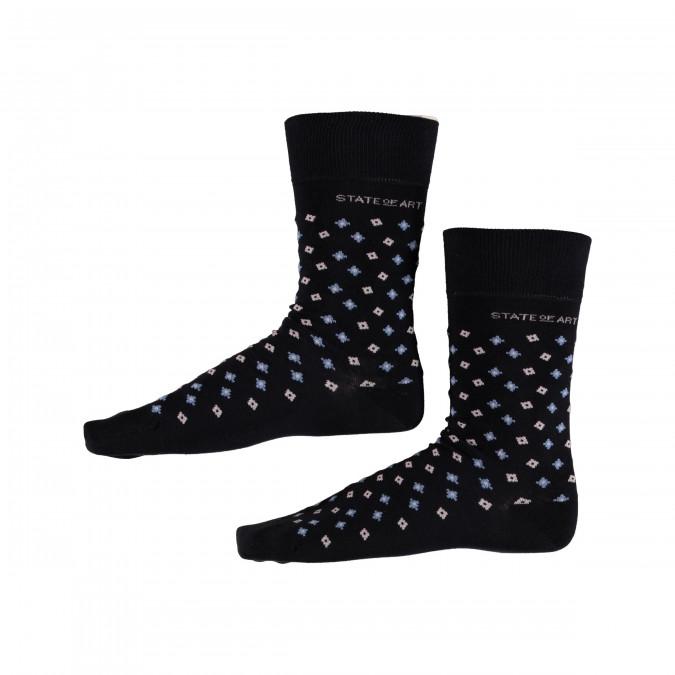 Socks-Print-with-Elastane---midnight/ice-blue