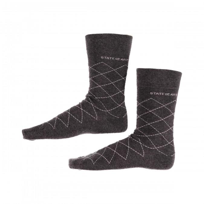 Socks-Checked---dark-anthracite/silvergrey