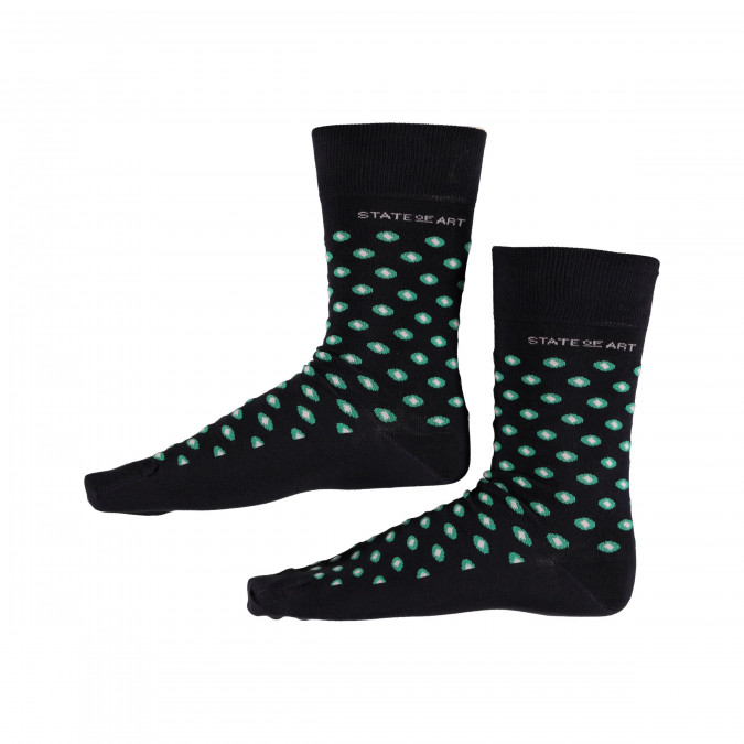 Socks-with-Print-and-Stretch---midnight/dark-lime