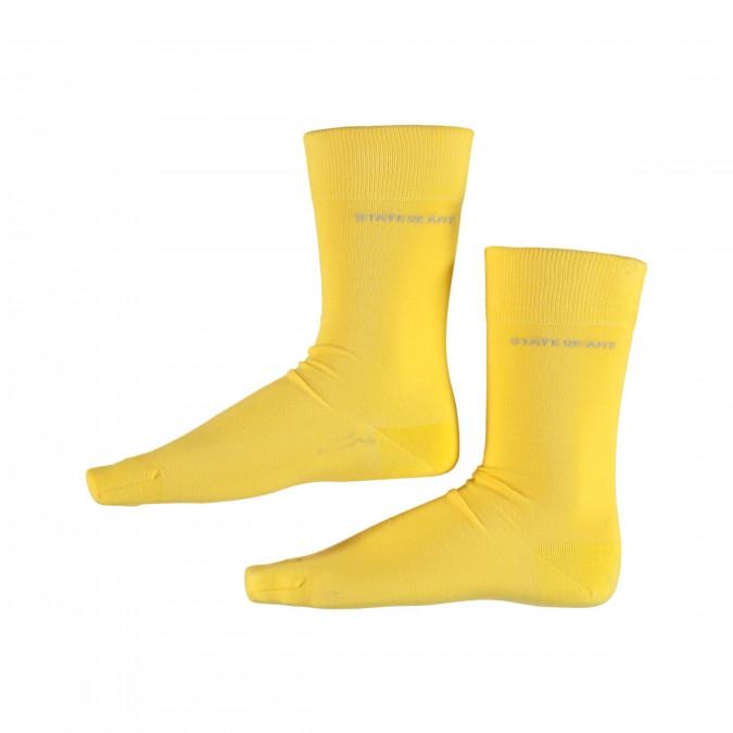 Socks-Plain---golden-yellow-plain