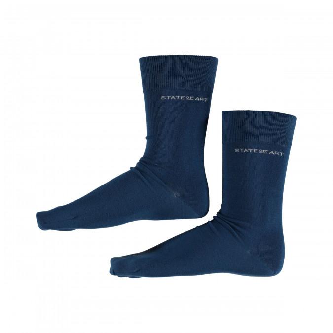 Uni-sokken---kobalt-uni