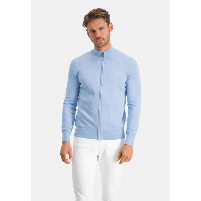 Cardigan-Plain-from-cotton---blue-plain