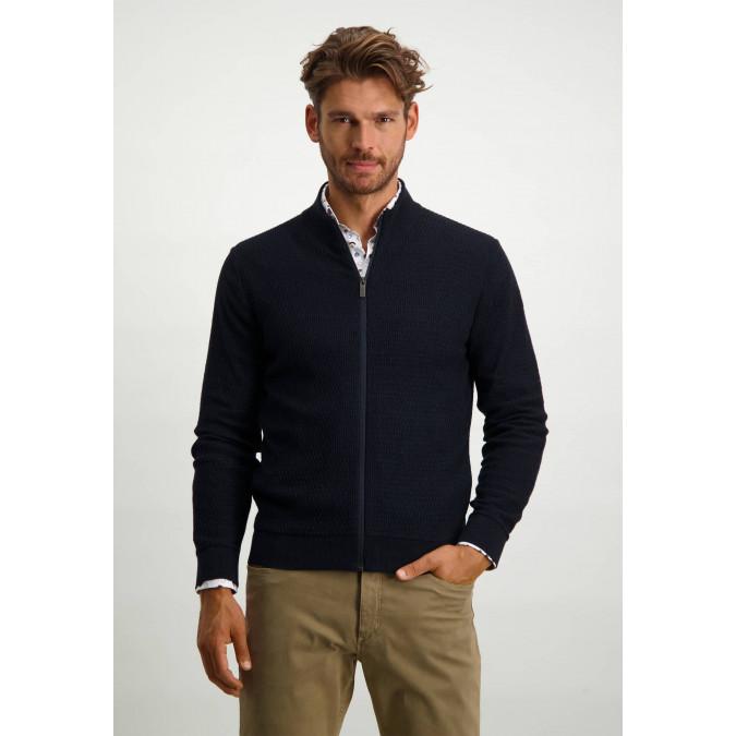 Vest-van-katoen-met-artwork---donkerblauw/marine