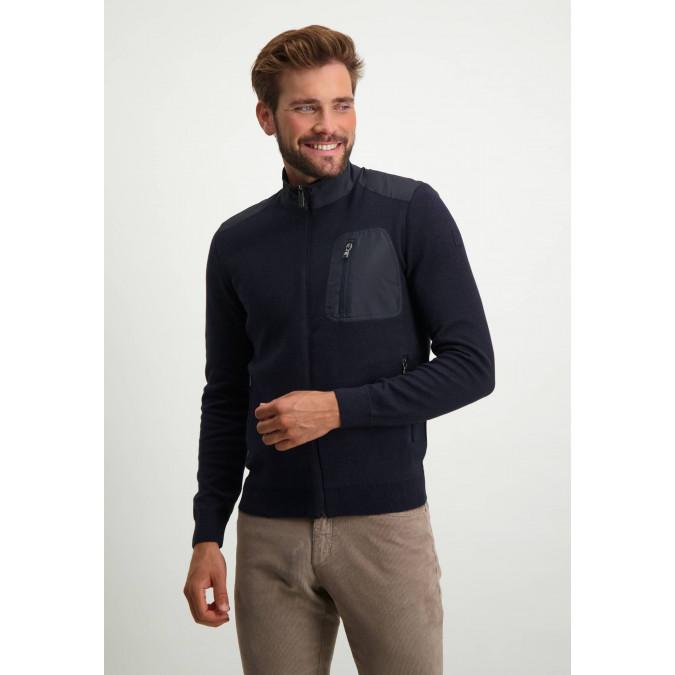 Vest-met-artwork-op-de-mouw---donkerblauw/marine