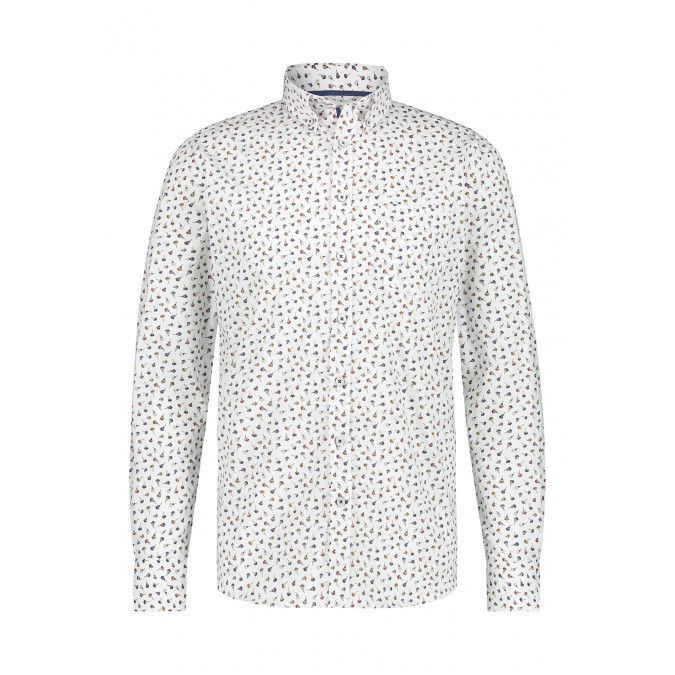 Shirt-with-all-over-print---brick/midnight