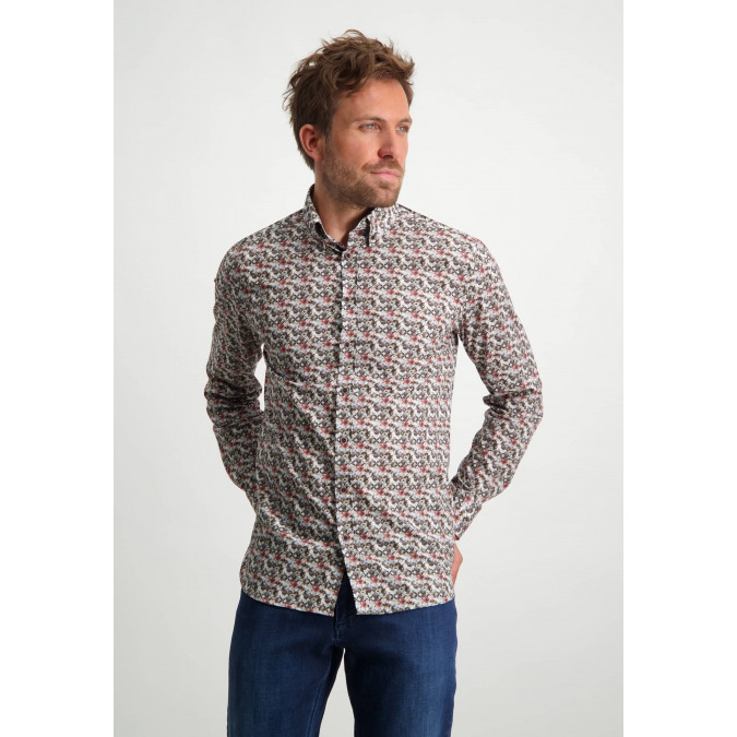 Cotton-shirt-with-all-over-print---dusty-pink/sepia