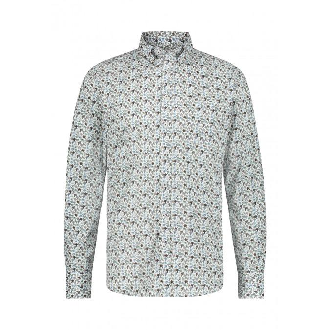 Poplin-shirt-with-button-down-collar---dark-blue/silvergrey