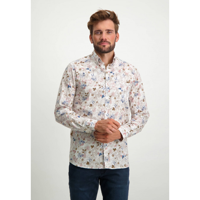 Shirt-with-botanical-print---dusty-pink/sepia
