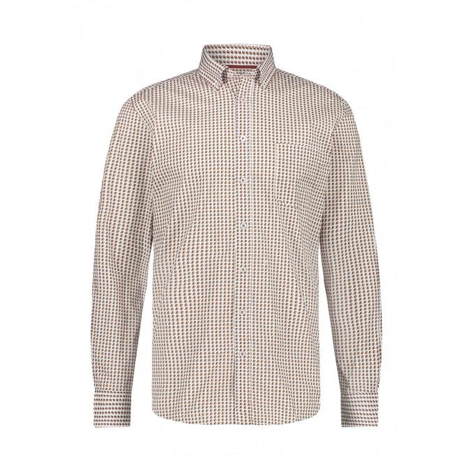 Stretch-shirt-made-of-organic-cotton---brick/mango