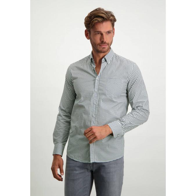 Stretch-shirt-made-of-organic-cotton---dark-blue/silvergrey