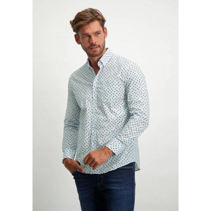 Organic-cotton-shirt---brick/cognac