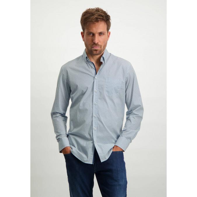 Print-organic-cotton-shirt---cobalt/white