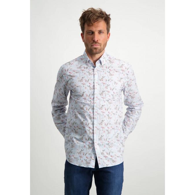 Organic-cotton-button-down-shirt---dusty-pink/sepia