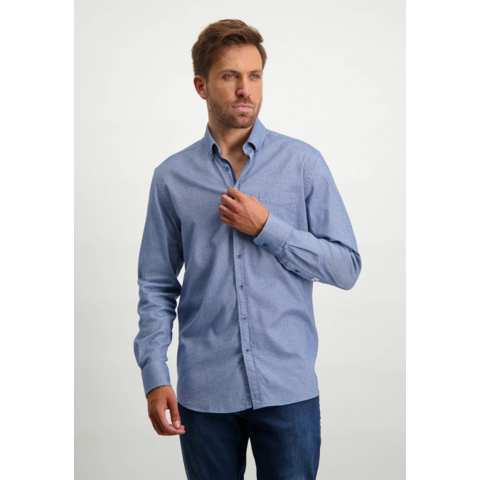 Flannel-shirt-with-chest-pocket---cobalt/white