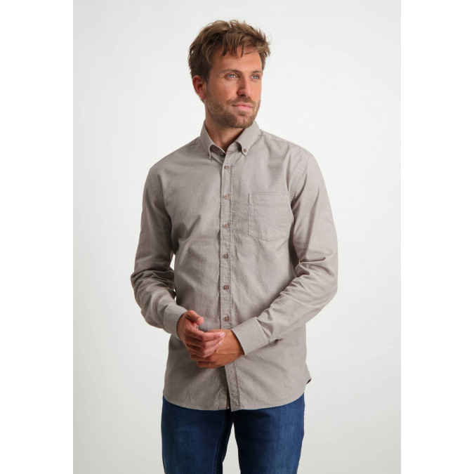 Flannel-shirt-with-chest-pocket---sepia/white