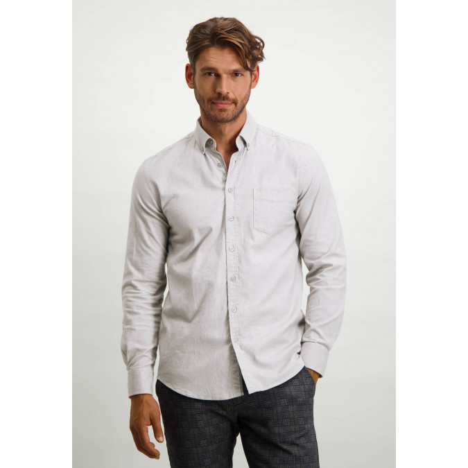 Flannel-shirt-with-chest-pocket---silver-grey/white