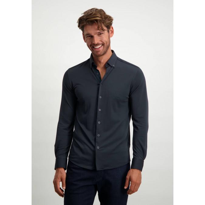 Functional-shirt-in-polyamide-(nylon)---dark-blue-plain
