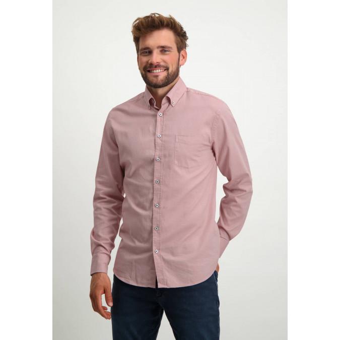 Stretch-cotton-Oxford-shirt---dusty-pink/white
