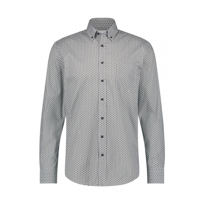 Cotton-stretch-shirt-with-print---silver-grey/midnight