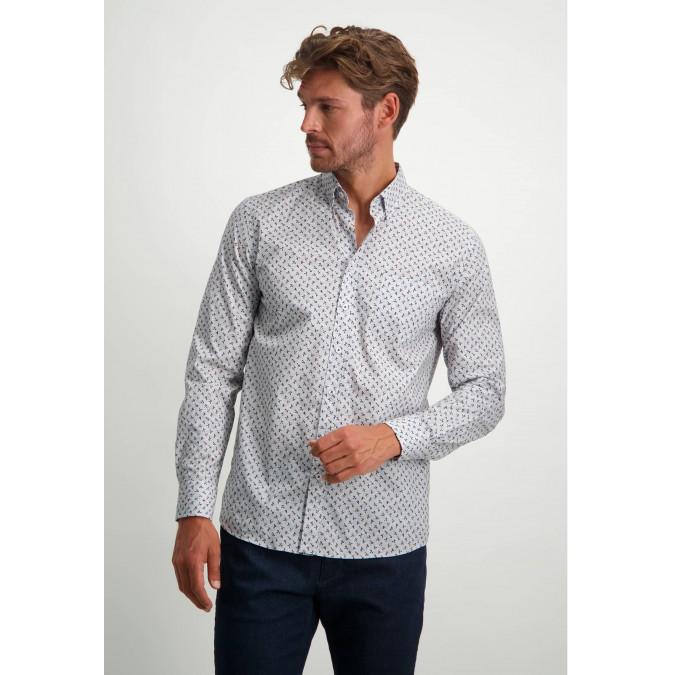 Poplin-organic-cotton-shirt---sepia/dusty-pink