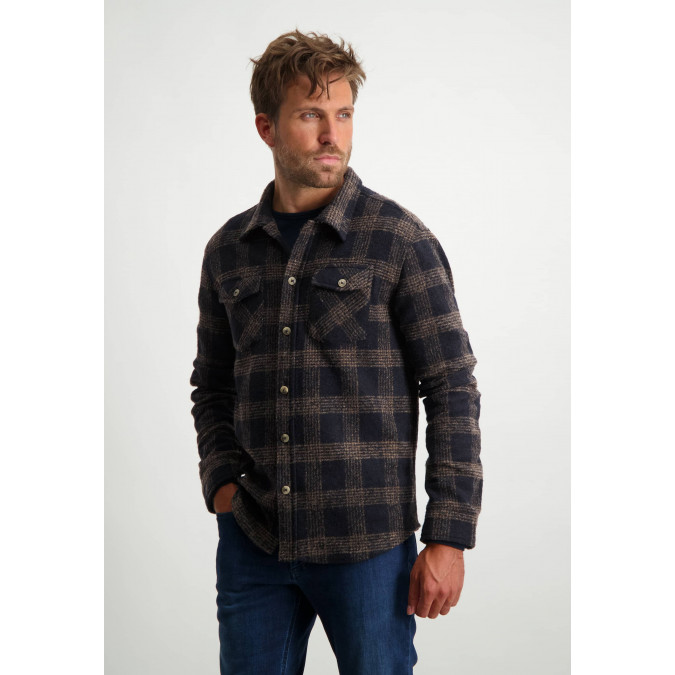 Wool-blend-shirt---midnight/sepia