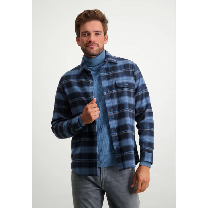 Shirt-of-organic-cotton---grey-blue/silver-grey