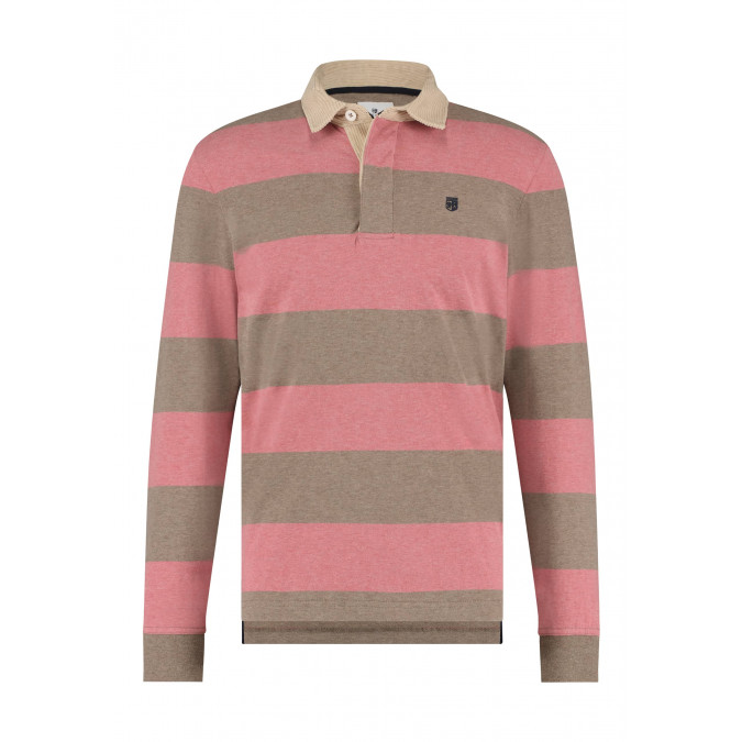 Rugby-shirt-with-stripe-pattern---dusty-pink/sepia
